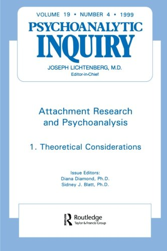 Attachment Research and Psychoanalysis: Part 1: Theoretical Considerations (Psychoanalytic Inquiry)