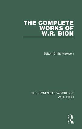 the dictionary of the work of wr bion