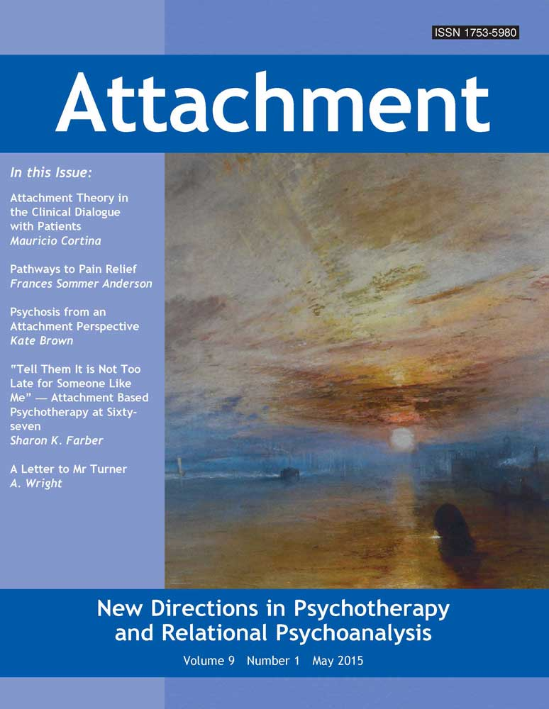 Attachment: New Directions in Psychotherapy and Relational Psychoanalysis - Vol.9 No.1