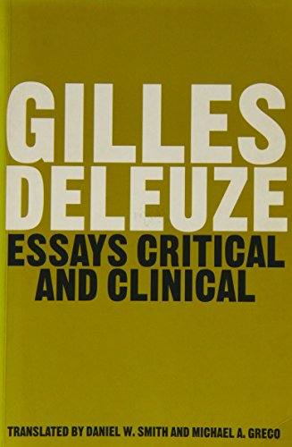 Essays Critical and Clinical