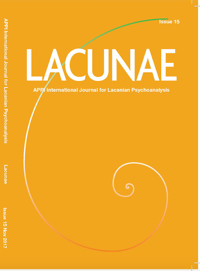 Lacunae: APPI International Journal for Lacanian Psychoanalysis: Issue 15