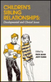 Children's sibling relationships: developmental and clinical issues