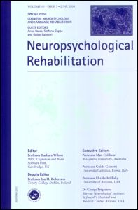 Cognitive Neuropsychology and Language Rehabilitation: A Special Issue of <i>Neuropsychological Rehabilitation</i>