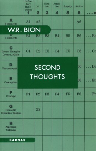 Second Thoughts: Selected Papers on Psychoanalysis