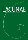 Lacunae: APPI International Journal for Lacanian Psychoanalysis: Issue 12