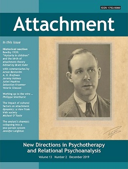 Attachment: New Directions in Psychotherapy and Relational Psychoanalysis - Vol.13 No.2